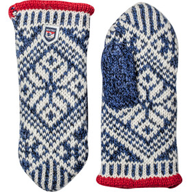 Hestra Nordic Wool Mittens Mellanblå/Offwhite